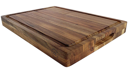 Thick Acacia multipurpose reversible cutting board