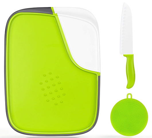 WahCaak - Multifunction Plastic Cutting Board double sided set with storage