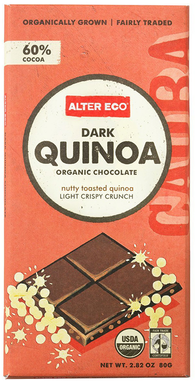 Alter Eco Organic Dark Chocolate With Quinoa