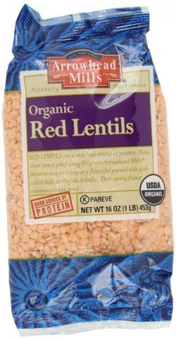 Arrowhead Mills Packaged Organic Red Lentils