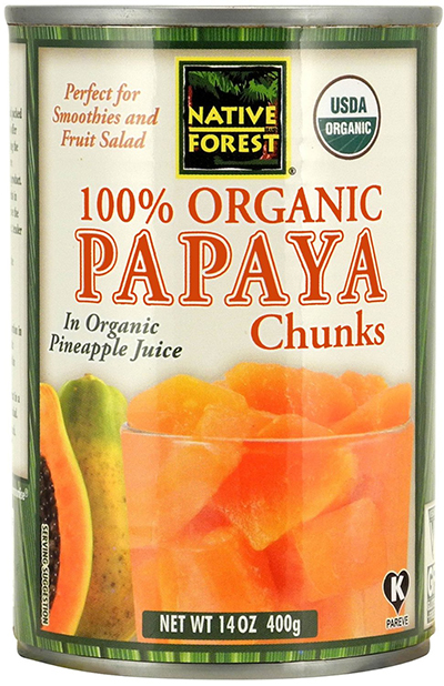 Canned Organic Papaya by Native Forest, Chunks