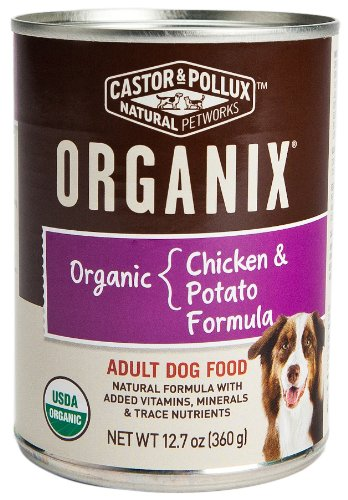 Castor and Pollux Organix Dog Food with Chicken and Potatoes
