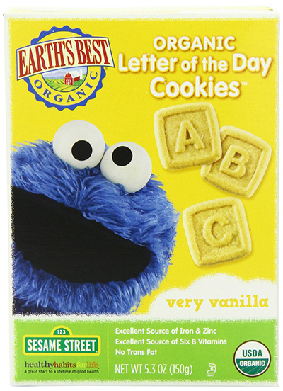 Earth's Best Organic Letter Cookies With Vanilla