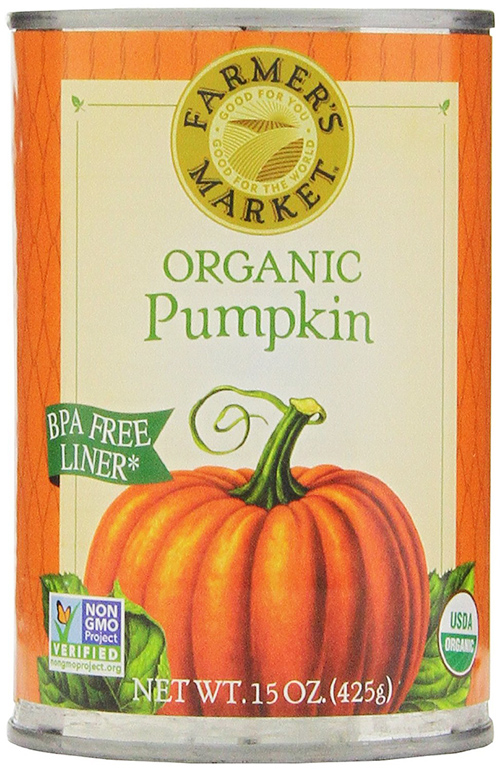 Farmer's Market Canned Organic Pumpkin