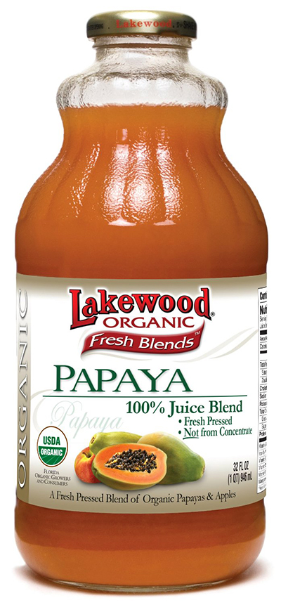 Fresh Pressed Organic Papaya Juice by Lakewood