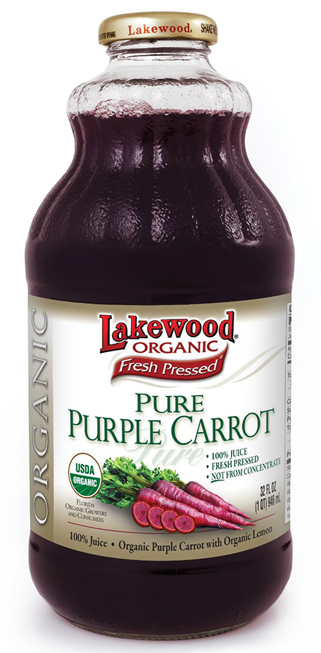Fresh Pressed Organic Purple Carrot Juice by Lakewood