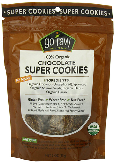 Go Raw Organic Chocolate Super Cookies