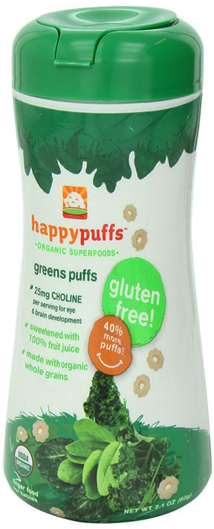 Happy Baby Whole Grain Green Puffs