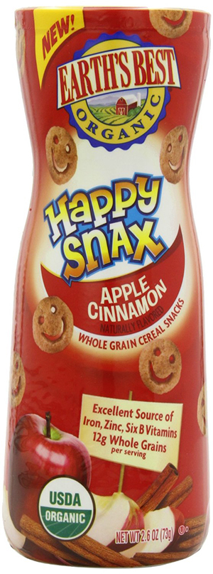 Earth's Best Happy Snax Crackers With Apple Cinnamon Flavor