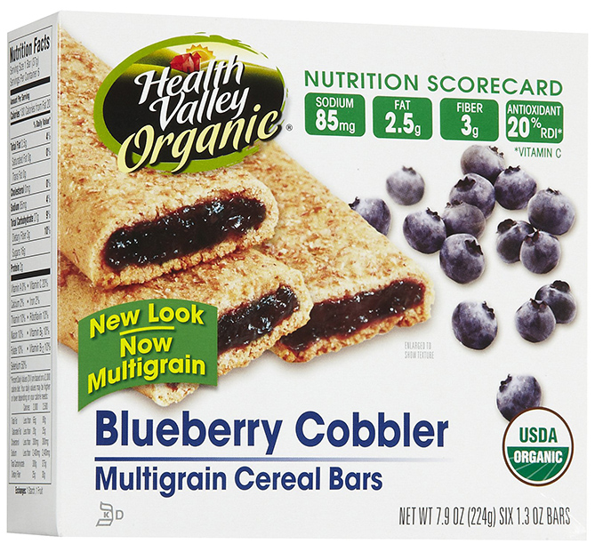 Health Valley Blueberry Cobbler Cereal Bars