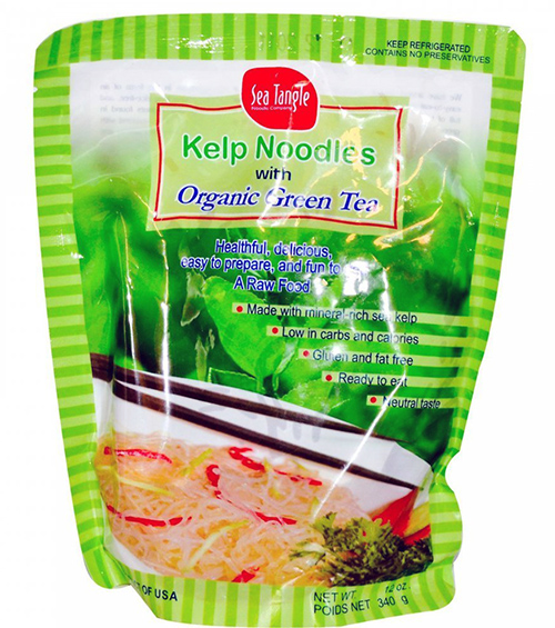 Sea Tangle Noodle Company Kelp Noodles with Organic Green Tea