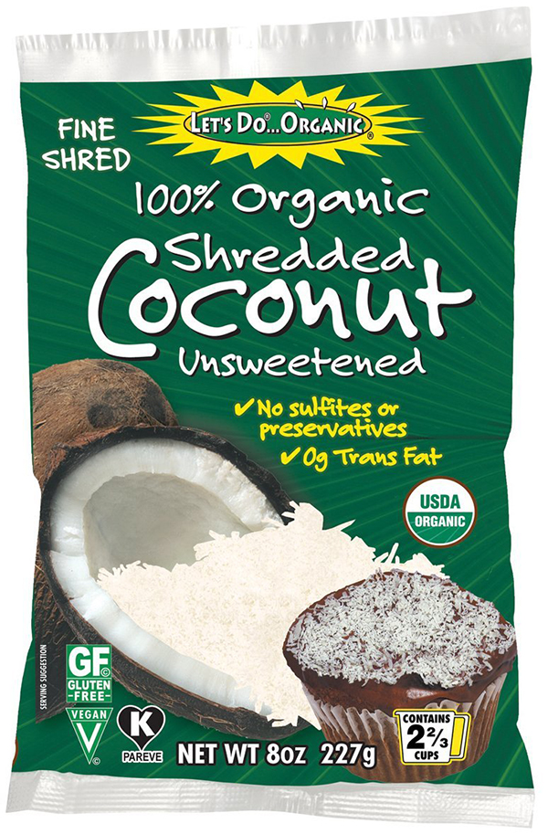 Let's Do Organic Unsweetened Shredded Coconut