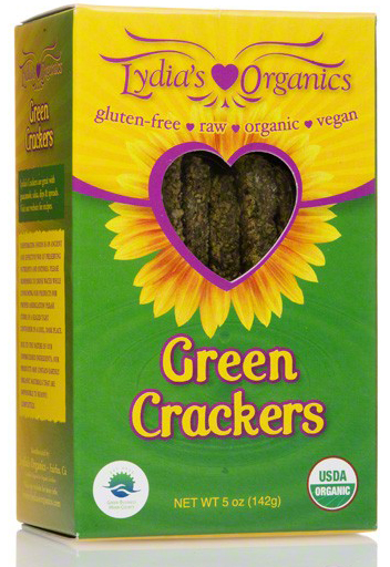 Lydia's Organics Nutritious Green Crackers