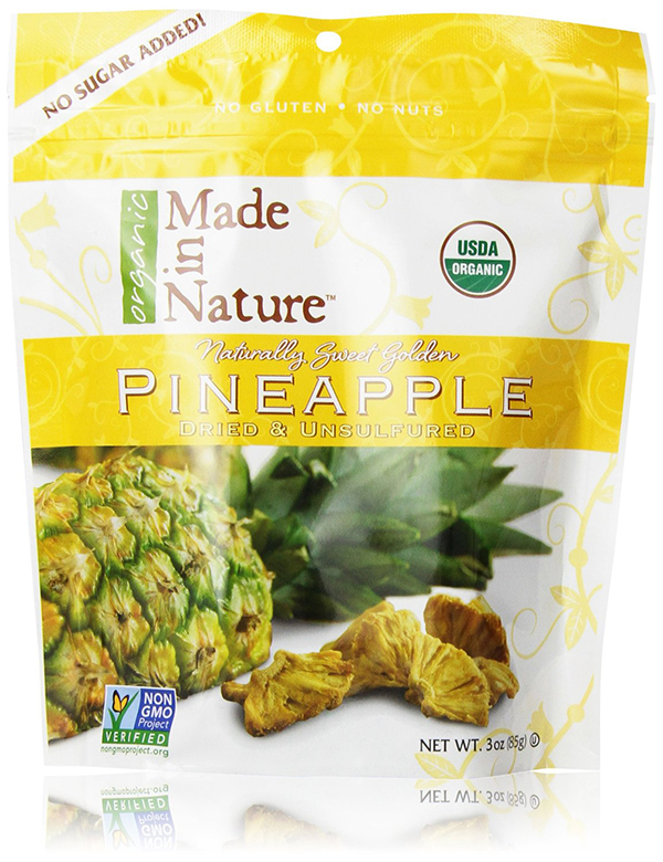 Made in Nature Dried Organic Pineapple
