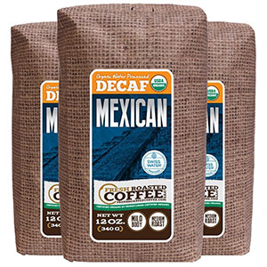 Organic Mexican Swiss Water Processed Decaffeinated Coffee
