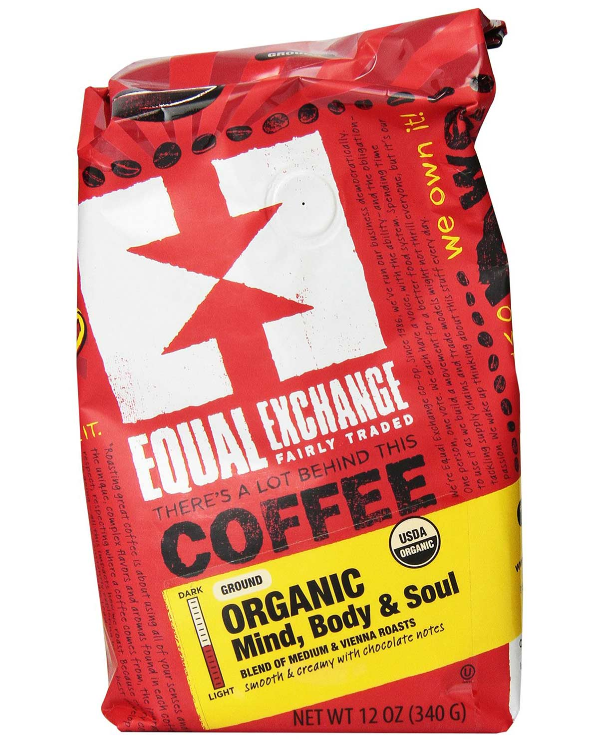 Mind Body and Soul Organic Coffee by Equal Exchange