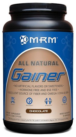 100% Natural Weight Gainer by MRM, Chocolate Flavored