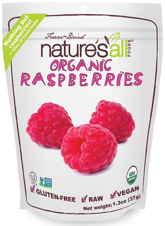 Nature's All Foods Freeze-Dried Organic Red Raspberries