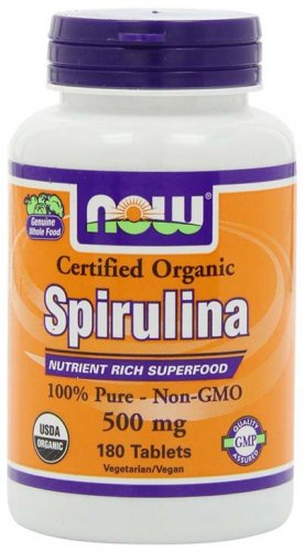 Organic Spirulina Supplement by Now Foods