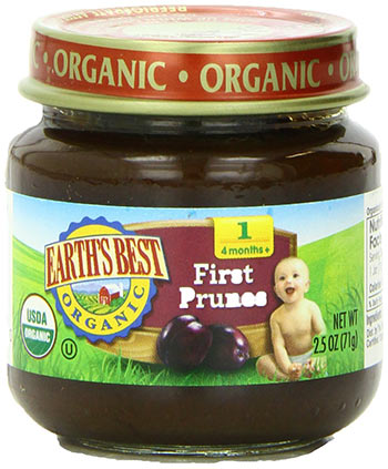 Organic 4 Months+ Prune Baby Food by Earth's Best