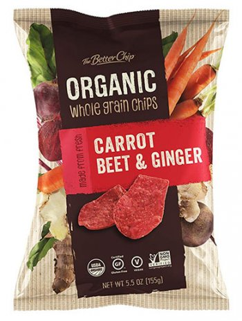 Organic Beet Carrot And Ginger Chips by The Better Chip