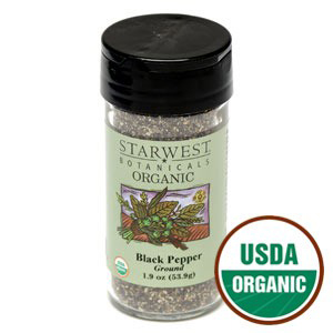 Organic Black Pepper by Starwest Botanicals
