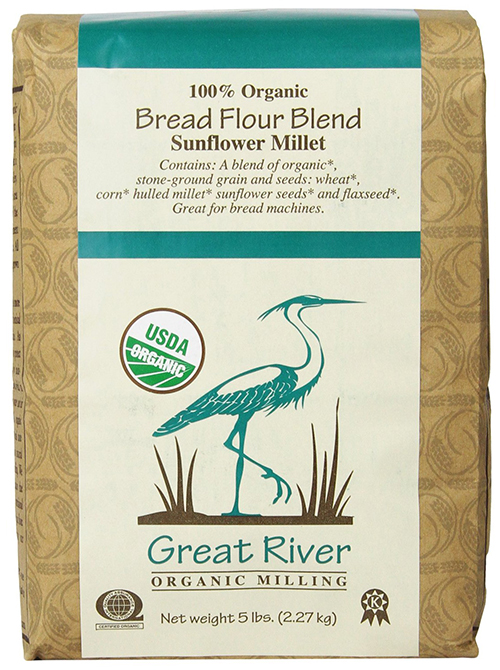 100% Organic Bread Flour Blend Sunflower Millet by Great River Organic Milling
