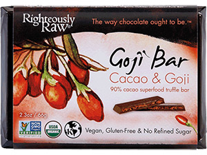 Organic Cacao Goji Berry Truffle Bar by Sunfood Superfood