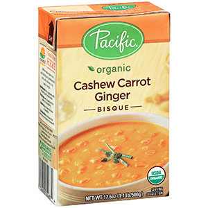 Organic Cashew Carrot Ginger Bisque by Pacific Foods