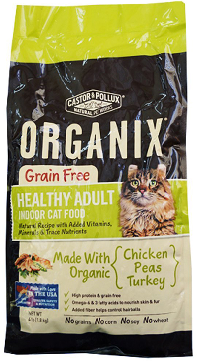 Organic Cat Food for Adult Indoor Cats by Castor & Pollux Organix