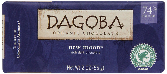 Organic Dark Chocolate by Dagoba, New Moon