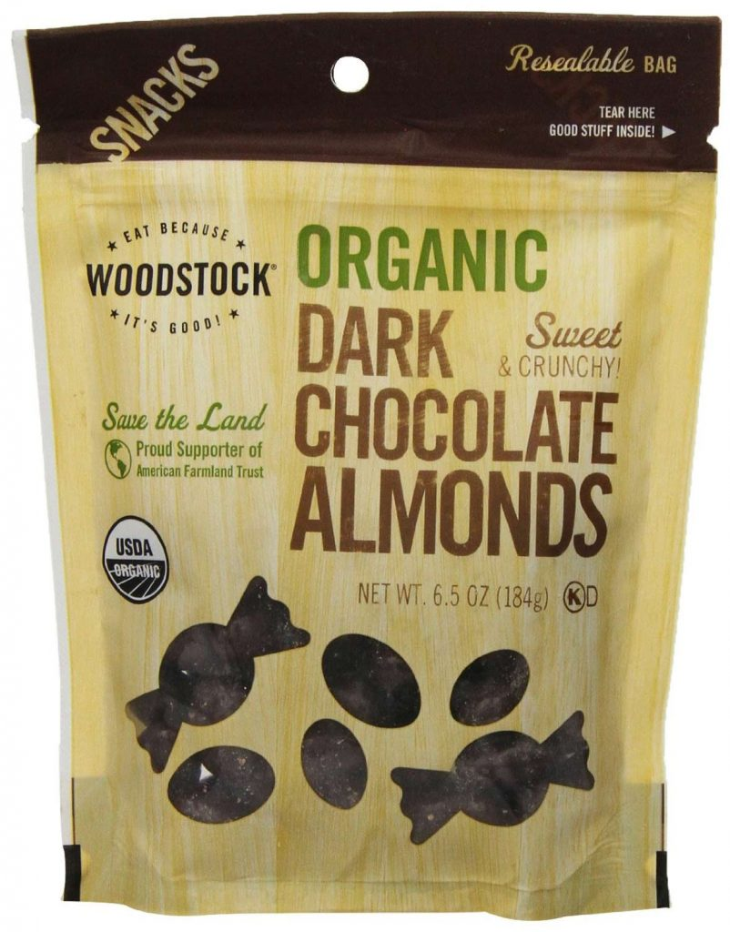 Organic Dark Chocolates With Almonds