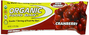 Organic Energy Bar With Cranberries