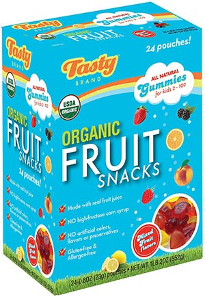 Organic Flavor Mix Fruit Snack by Tasty Brand