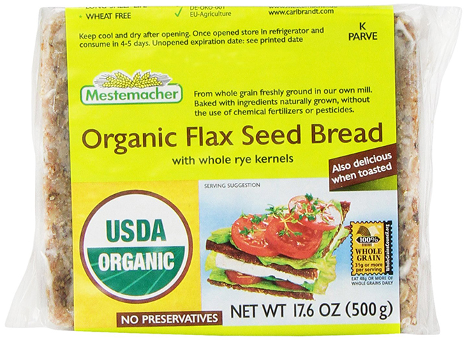 Organic Flaxseed Bread by Mestemacher