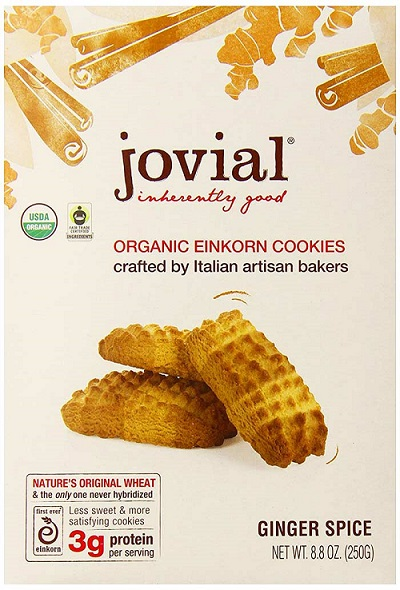 Organic Ginger Einkorn Cookies By Jovial