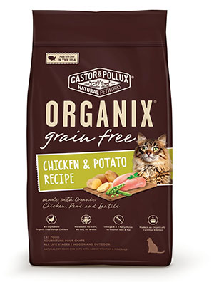 Organic Grain-Free Adult Cat Food by Castor & Pollux Organix