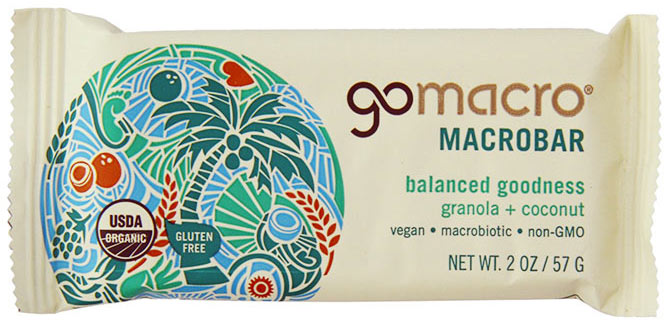 Organic Granola Bar with Coconut by Go Macro
