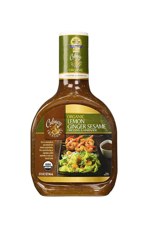 Organic Lemon Ginger Sesame Dressing & Marinade by Culinary Treasures