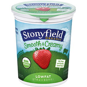 Organic Low Fat Strawberry Yogurt by Stonyfield Farm