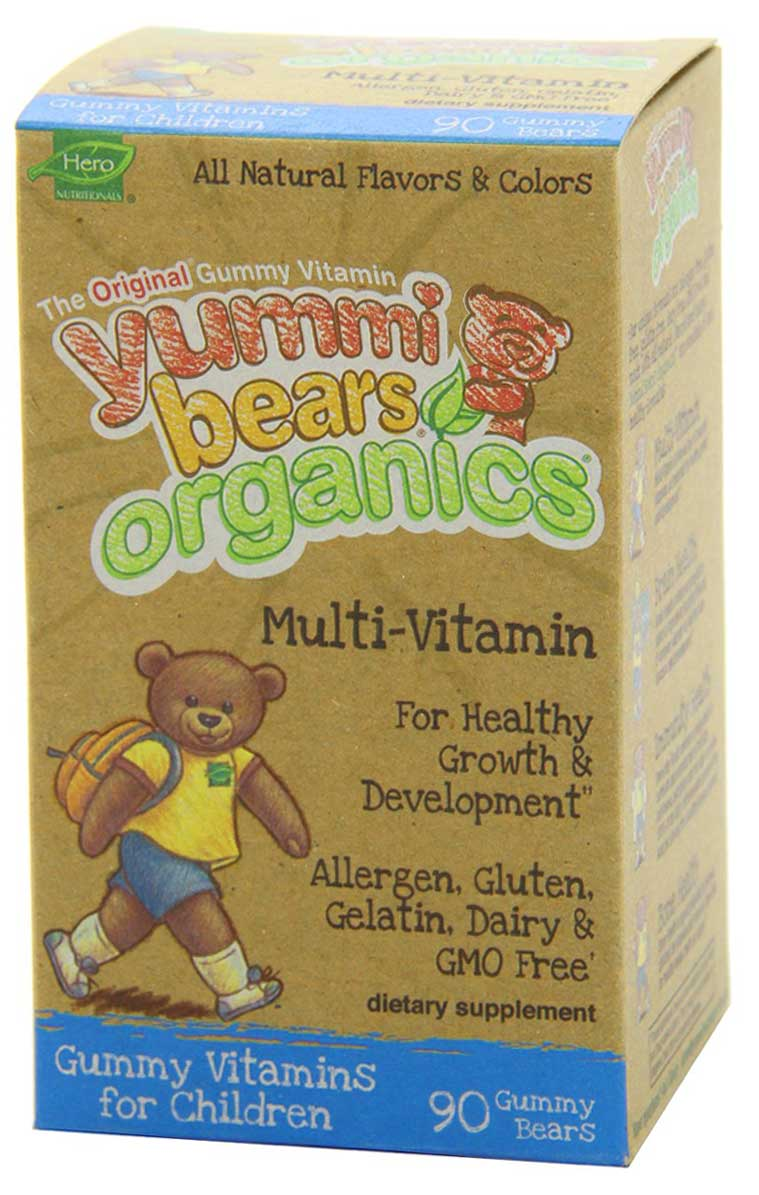 Organic Multivitamin Gummy Bears for Kids
