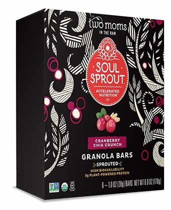 Organic Soul Sprout Granola Bars by Two Moms in the Raw