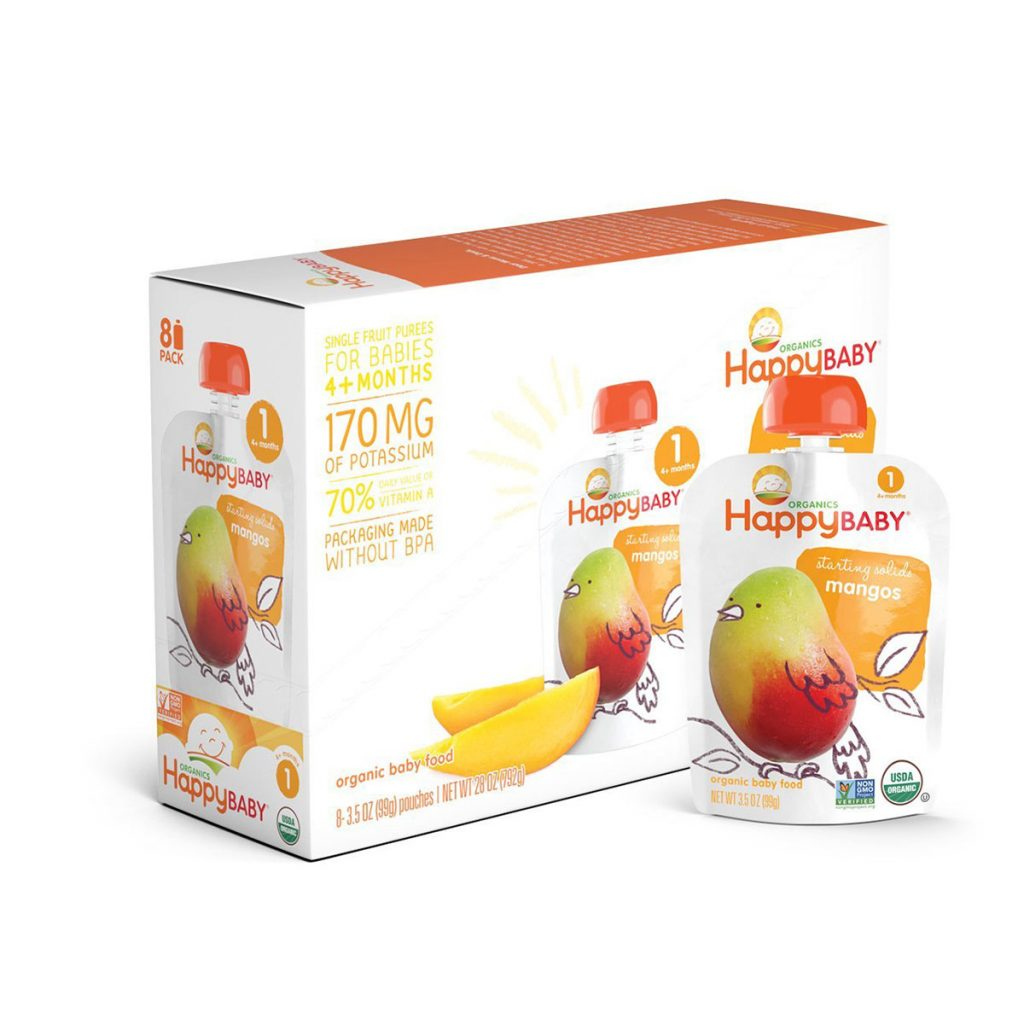 Organic Stage 1 Baby Food with Mango Flavor