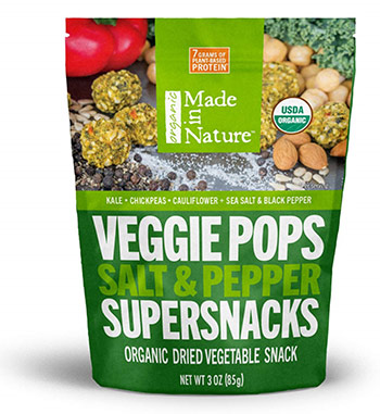 Organic Super Veggie Pops With Salt and Pepper by Made in Nature