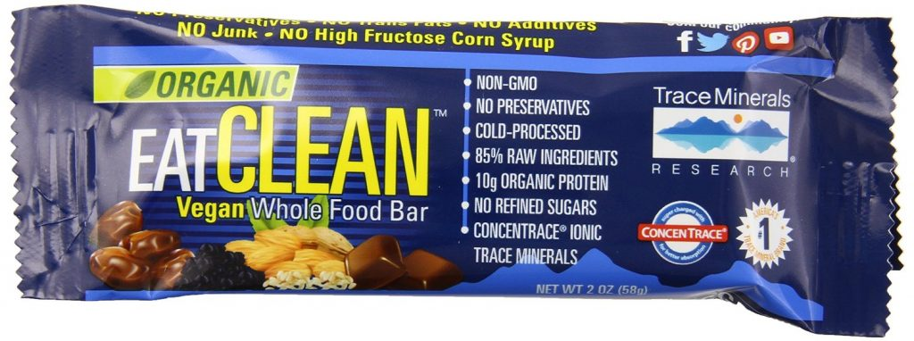 Organic Vegan Wholefood Bar by EatClean, With Trace Minerals