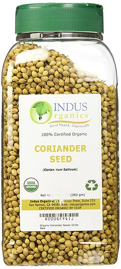Organic Whole Coriander Seeds by Indus Organics