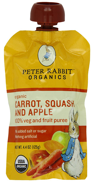 Peter Rabbit Organics Puree Fruit Pouches