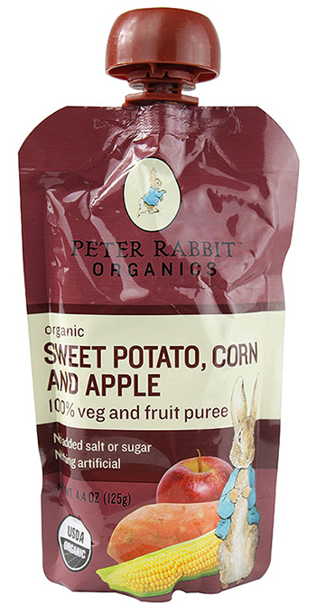 Peter Rabbit Organics Sweet Potato Corn and Apple Pouches