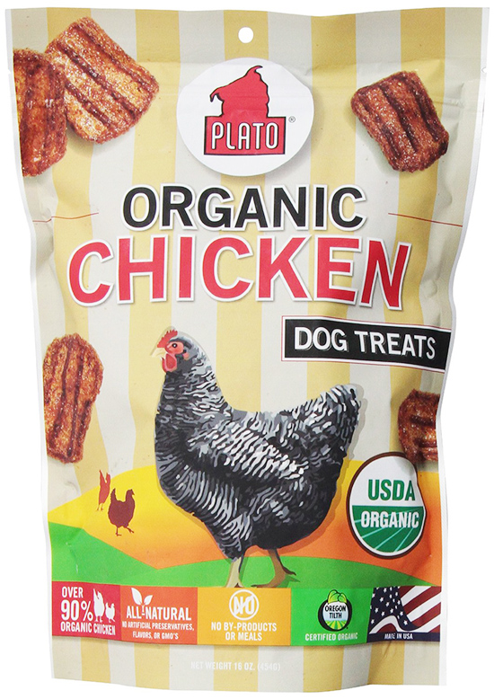 Plato Organic Dog Treats With Chicken
