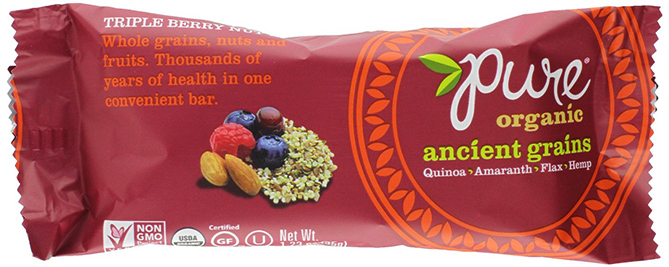 Pure Organic Ancient Grains Triple Berry Nut Bar